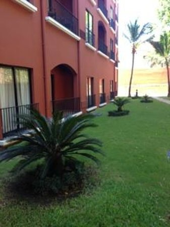 Courtyard Santo Domingo: The neatly kept grass/lawn