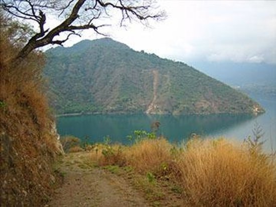 Atitlan Villas: View half way up the mountainside (It just keeps getting better as you go up)