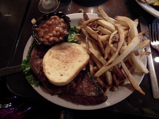 Dodge House Restaurant : 12 oz. steak & fries