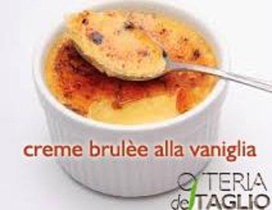 Osteria del Taglio: creme brulèe
