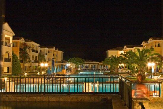 Alykanas Village Hotel: View of pools an apartments at night