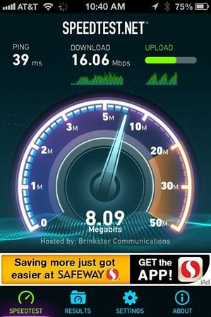 BEST WESTERN Phoenix Goodyear Inn: good wifi speed this was in the Lobby