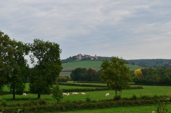 Château Sainte Sabine : view of the nearby pretty village of Chateauneuf
