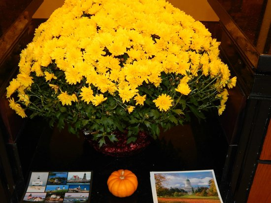 BEST WESTERN PLUS Augusta Civic Center Inn: Yellow Mums in the Lobby