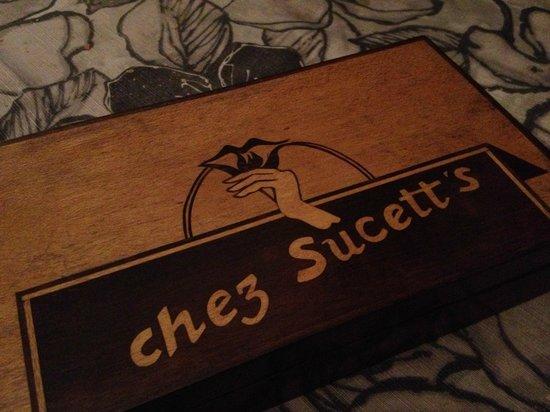Chez Sucett's: bill-box