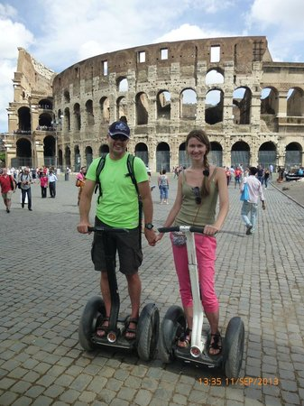CSTRents Segway Tours: at the Colosseum as to chariot