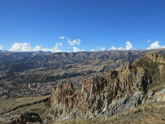 Muela del Diablo: View over La Paz
