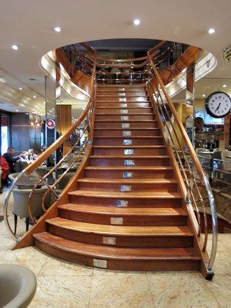 Beautiful curvy staircase inside Le Lutece