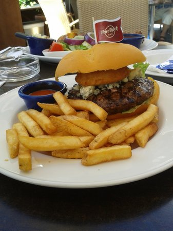 Hard Rock Cafe : red white and blue burger