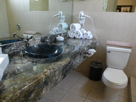 Best Western Plus Hollywood Hills Hotel : Our bathroom