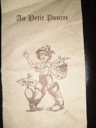 Rotisserie Au Petit Poucet: La petite serviette !!!