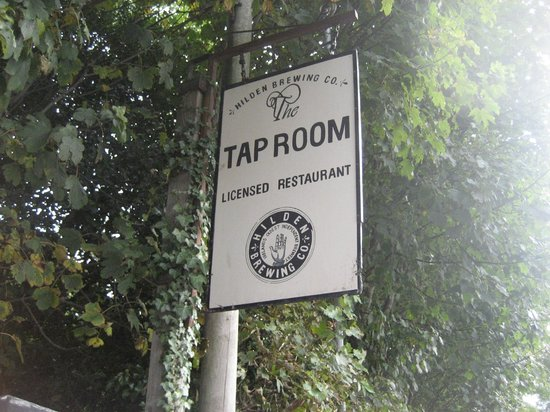 The Tap Room at Hilden Brewery: Sign