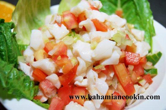 Bahamian Cookin' Restaurant & Bar: Conch salad