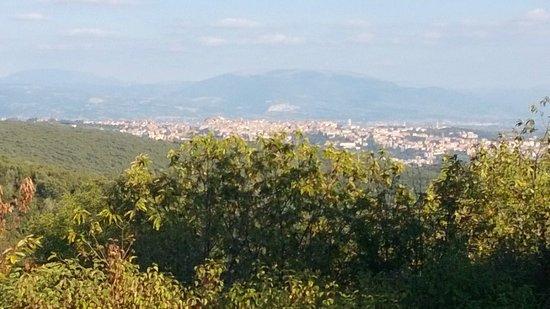 BlueBay Colle della Trinita Perugia : View of Perugia from hotel