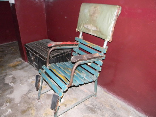 KGB Cells Museum: Interrogation Chair