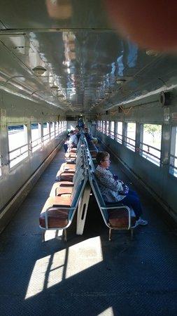 Adirondack Scenic Railroad: The open car.