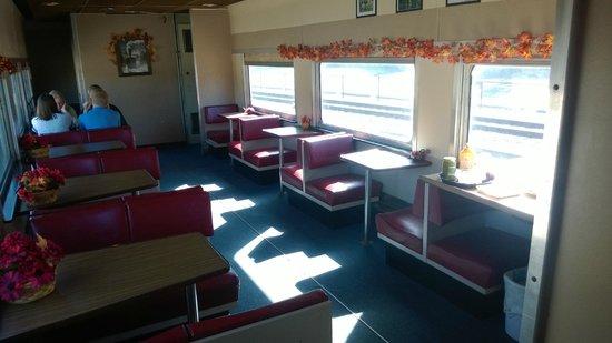 Adirondack Scenic Railroad: The Pullman dining car.