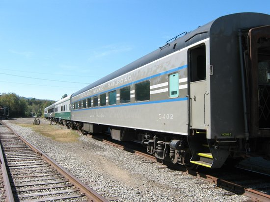 Adirondack Scenic Railroad: The train cars.
