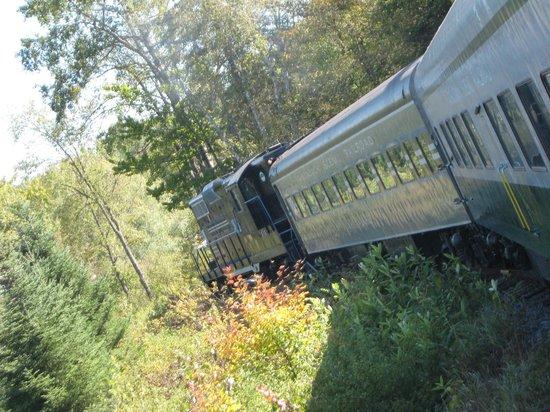 Adirondack Scenic Railroad : Heading back to Lake Placid.