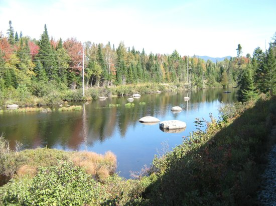 Adirondack Scenic Railroad: One of several river/lakes on the way.