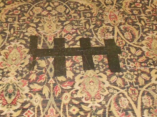 Sturbridge Host Hotel & Conference Center: This is the patch in the carpeting in the lobby -- what a great first impression!