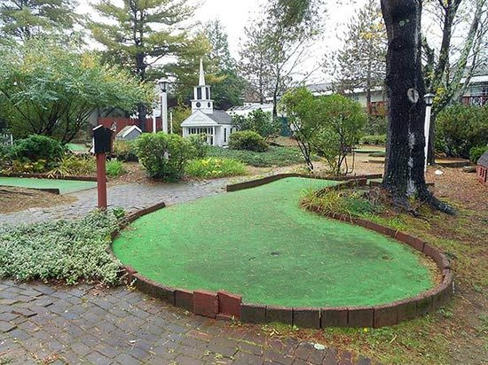 "Sturbridge Host Hotel & Conference Center: This is the abandoned miniature golf area -- billed as ""golf course on the grounds"""