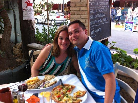 Papillon Restaurant : Ellen en Justin aan het diner in restaurant Papillon