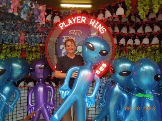 Galveston Island Historic Pleasure Pier: FUN & Games at the Pleasure Pier :-)  Had a blast with our family !!