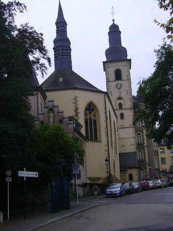 Saint Michel's Church : Iglesia de San Miguel, Ciudad de Luxemburgo, Luxemburgo.