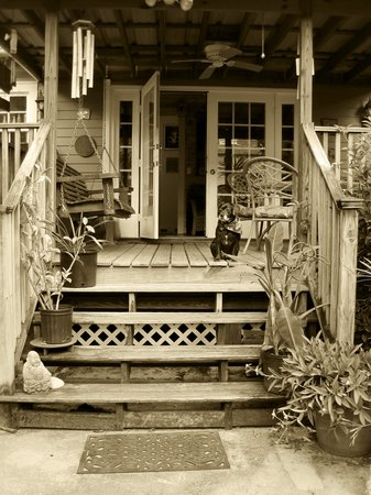 House of the Rising Sun Bed and Breakfast: House Of The Rising Sun - Boudon on the back porch