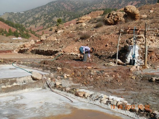 Domaine Malika: Salt mines nearby