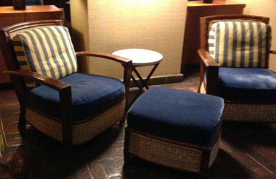 Portola Hotel & Spa at Monterey Bay: So many places to sit about the property