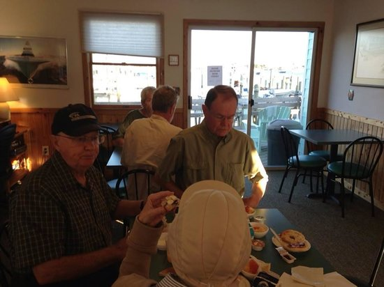 Ocracoke Harbor Inn : Continental Breakfast with Harbor View