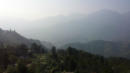 Sapa Unique Hotel: A view from a balcony