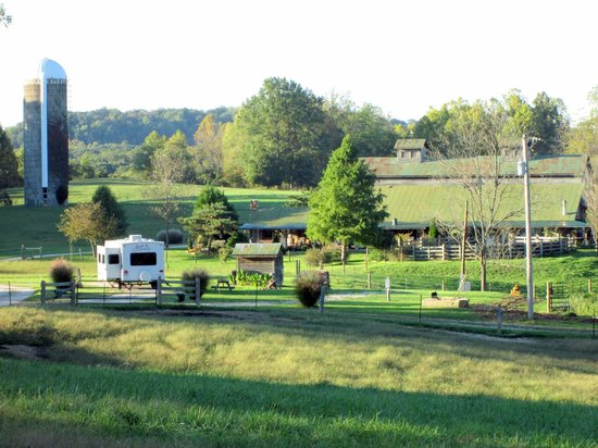 Crazyhorse Ranch & Lodge: A view of our trailer at the Ranch