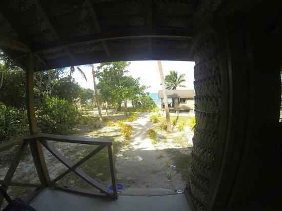 Matafonua Lodge: View from Fale 10