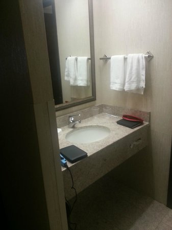 Drury Inn & Suites St. Louis Fenton: small counter space for family of 4