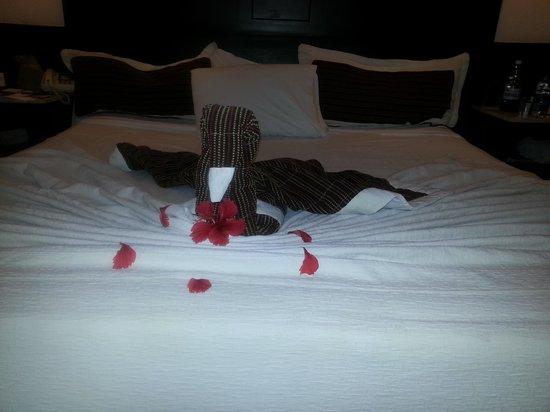 Bavaro Princess All Suites Resort, Spa & Casino: A beautiful weel made bed