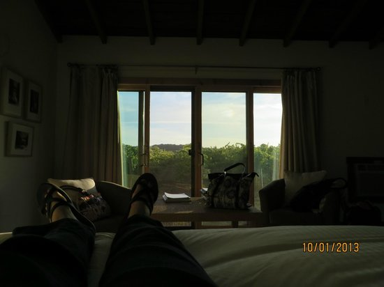 Soda Rock Winery: view from our bed