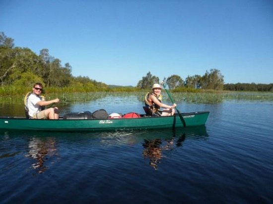 Lake Escapades: Paddling across Figtree Lake, part of the Noosa Everglades
