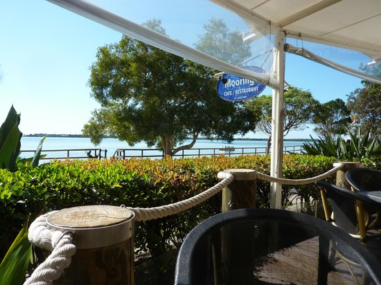 The Moorings Cafe/Restaurant: A most relaxing view to enjoy