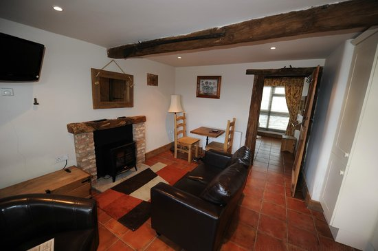 Mappleborough Green, UK: Comfortable living space with kitchette and cable TV