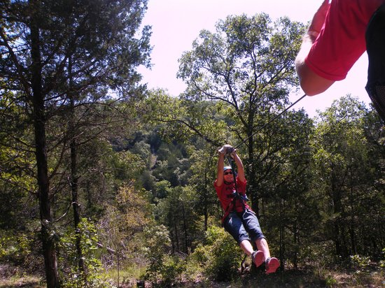 Zip Line USA: Smile on my face!
