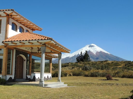 Hacienda Los Mortinos: View of the Cotopaxi from the hotel