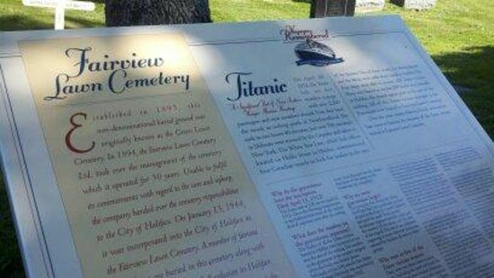 Fairview Lawn Cemetery: The nicely done Entrance Sign