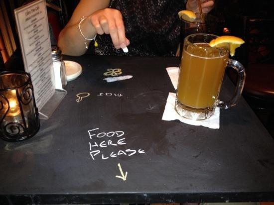 Olive Tree Cafe : Chalkboard tables