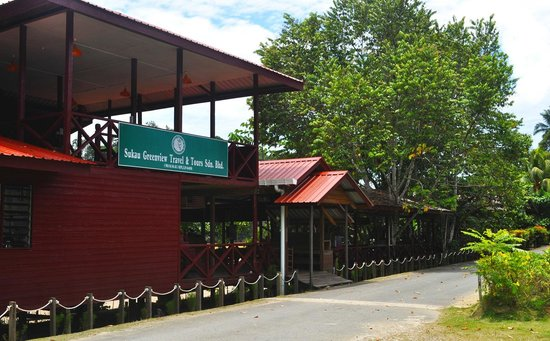 Sukau Greenview Bed & Breakfast: Riverside Restaurant and Main operation office