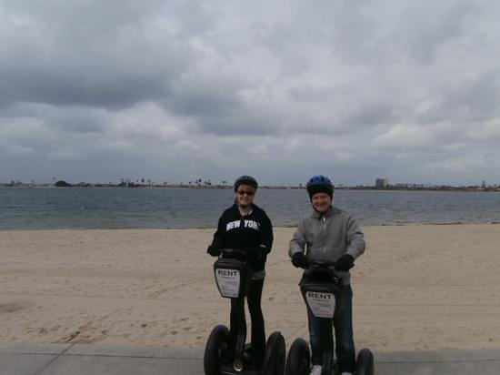 Segway of Pacific Beach: a rare overcast day