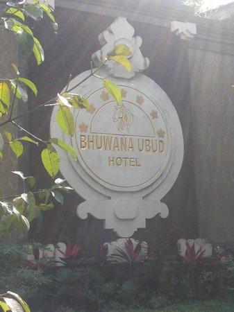 Bhuwana Ubud Hotel: Hotel sign