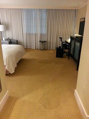 Renaissance New Orleans Arts Warehouse District Hotel : First impression - nice big room and huge stain on carpet